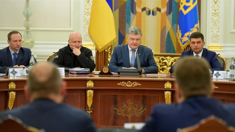 Ukraine's Petro Poroshenko announces end of martial law
