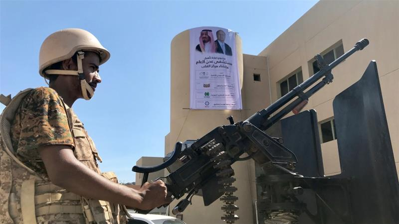 The Sudanese soldiers fight alongside Yemeni armed groups backed by Saudi Arabia, says NYT [File: Nael Shyoukhi/Reuters]