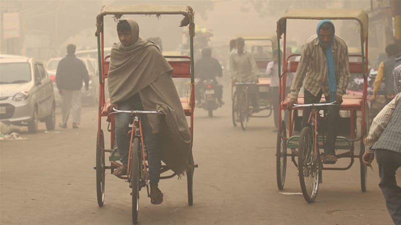 'They are in grave danger': Delhi's homeless struggle with smog