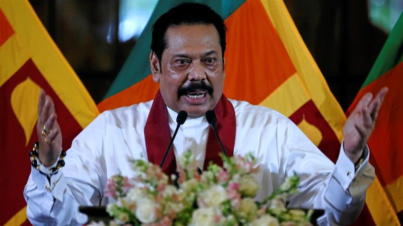 Mahinda Rajapaksa has refused to step down despite losing two no-confidence votes [Dinuka Liyanawatte/ Reuters]