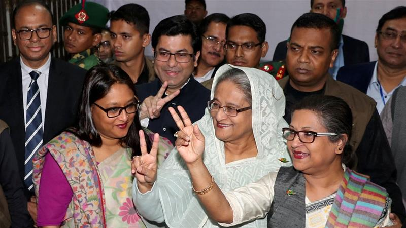 Hasina 'wins Bangladesh elections' as opposition rejects polls