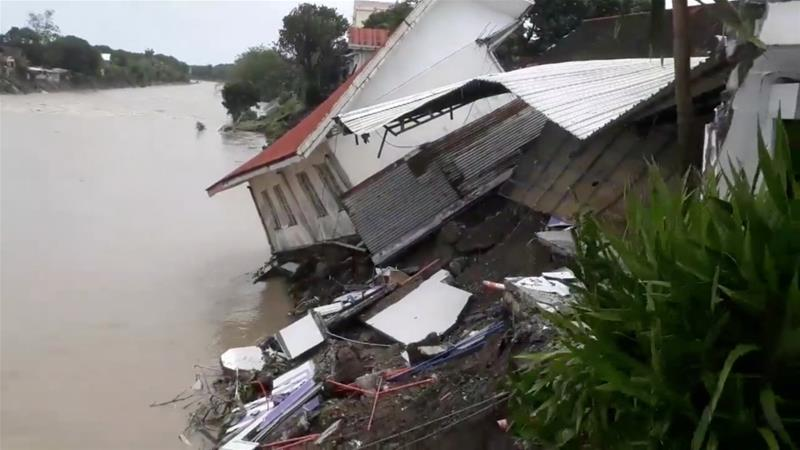 A destroyed house after a tropical depression hit Daet, in Camarines Norte [Robert Balidoy/via Reuters]
