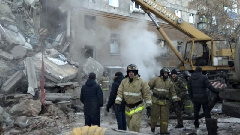 At least 10 people have been rescued from the rubble [Russian Ministry for Emergency Situations via AP]