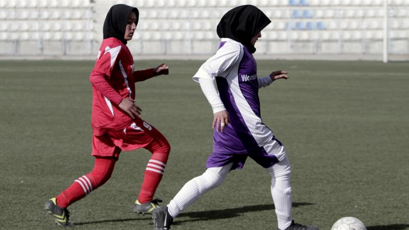 Afghanistan launched its first all-women's football league in 2014 [File: Rahmat Gul/AP]