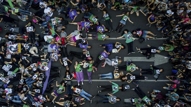 At least 1,800 women have been murdered since 2008, according to an Argentine women's rights organisation [Tomas F Cuesta/AP Photo]