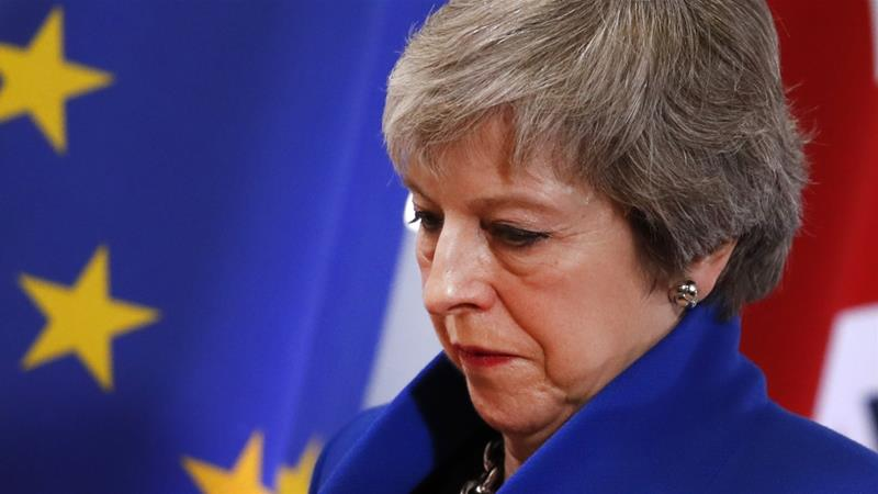 a34aa10868 Burdened with Brexit, Prime Minister Theresa May is on the brink ...