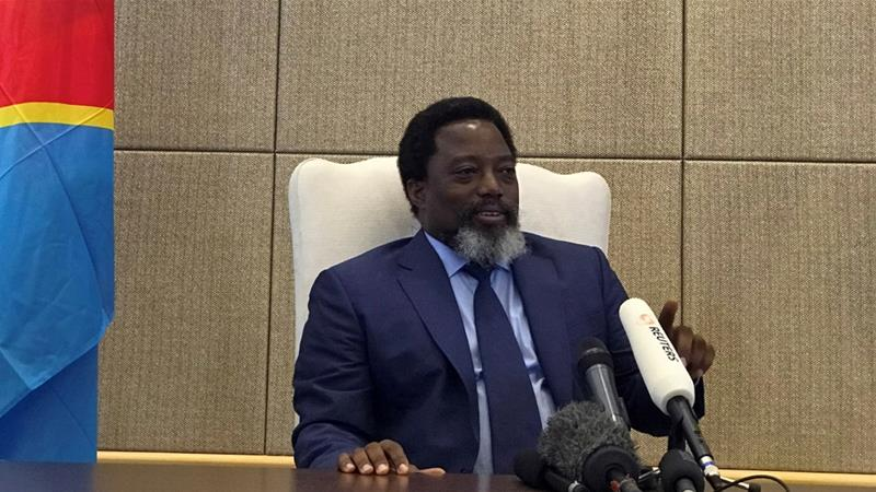 Kabila was catapulted to power aged 29 after his father's assassination in 2001 [Benoit Nyemba/Reuters]