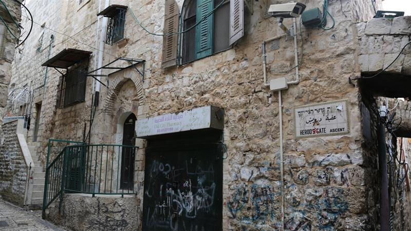 Adeeb Joudeh's old house is just a two-minute walk from the coveted holy Al Aqsa compound, also known as Temple Mount for Jews [Mersiha Gadzo/Al Jazeera]