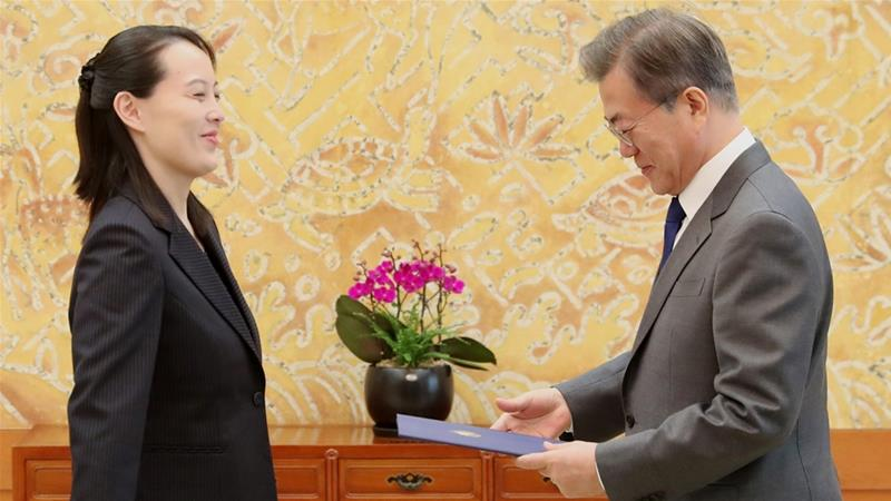 North Korean leader's sister, Kim Yo-jong, is in South Korea for the Winter Olympics [Yonhap/AFP]