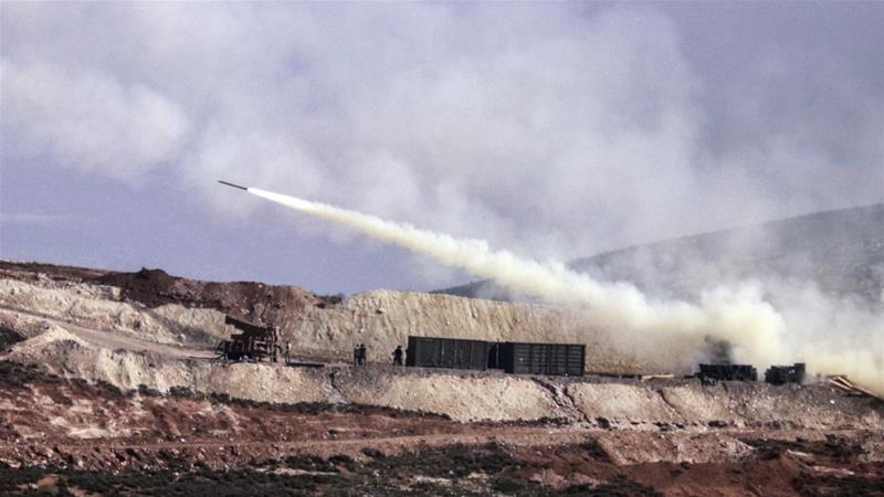 Turkish artillery fires toward Syrian Kurdish positions in Afrin Syria [The Associated Press]