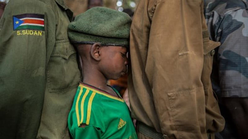 Recruitment of child soldiers still rising in South Sudan