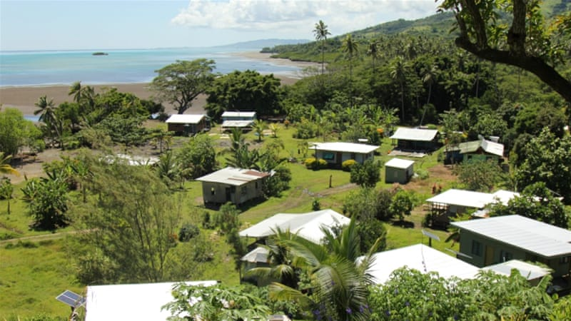 In Fiji, villages need to move due to climate change