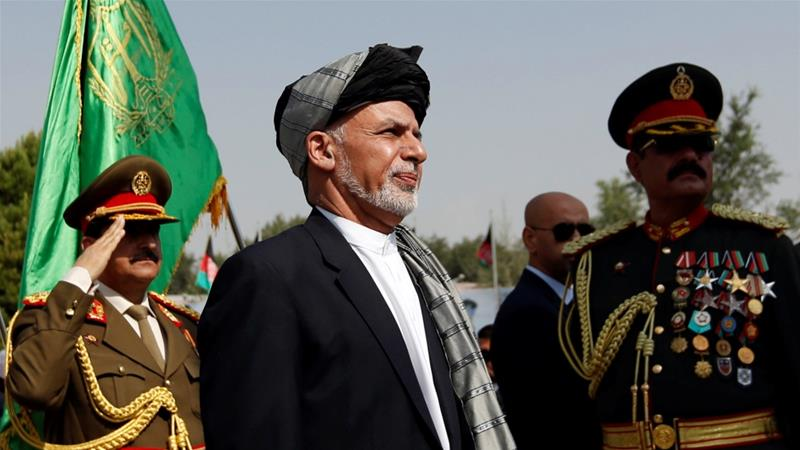 Afghan President Ashraf Ghani attends Afghan Independence Day celebrations in Kabul, Afghanistan on August 19, 2017 [Reuters/Mohammad Ismail]