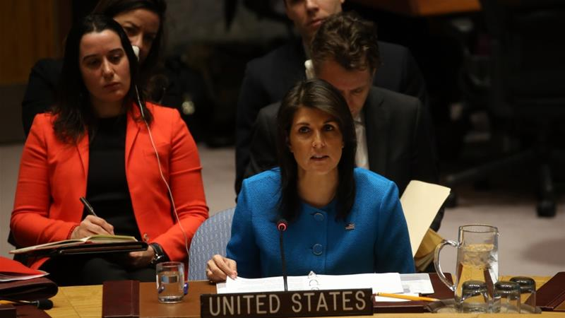 Haley confirmed that the new sanctions on Russia will be announced on Monday [Anadolu]