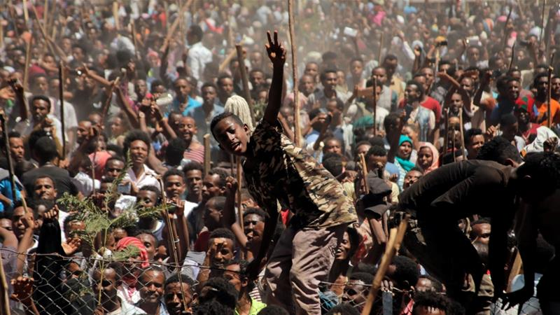 Ethiopia's prime minister resigned on Thursday amid widespread public protests [Tiksa Negeri/Daylife]