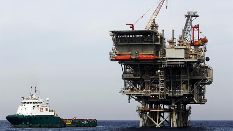 An Israeli gas platform west of Israel's port city of Ashdod [File: Amir Cohen/Reuters]