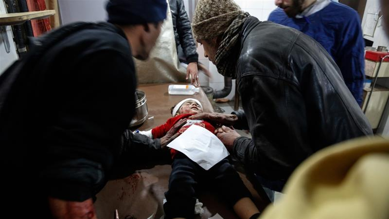 35 civilians dead near Damascus