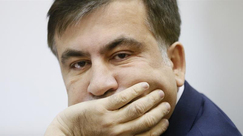 Ukrainian opposition figure and Georgian former President Mikheil Saakashvili attends a court hearing in Kiev, Ukraine on January 3, 2018. [Valentyn Ogirenko/Reuters]