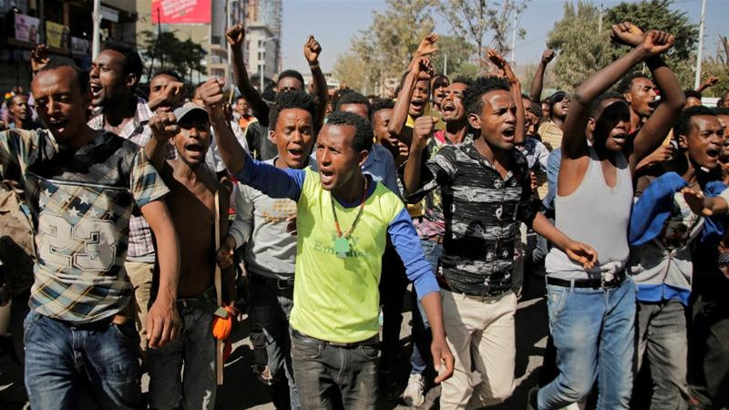 Mass anti-government protests have taken place in Ethiopia's most populous regions [Tiksa Negeri/Reuters]