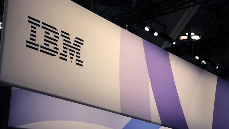 The logo for IBM is seen at the SIBOS banking and financial conference in Toronto, Canada, October 19, 2017 [Photo/Chris Helgren/Reuters]