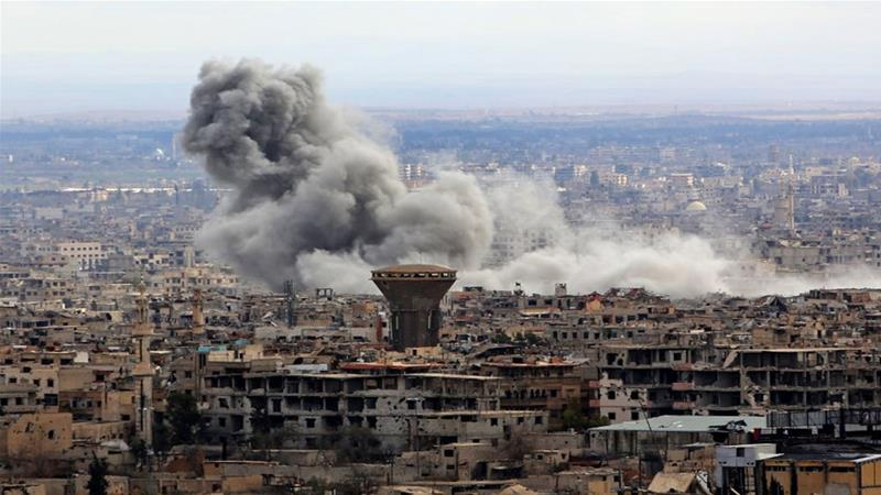 Syrian forces attacking eastern Ghouta 'have surrounded rebels in Douma'