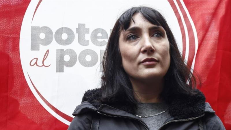 Power to the People leader Viola Carofalo said the left-wing party launched to represent 'young, precarious workers from the south' [Courtesy: Potere al Popolo]