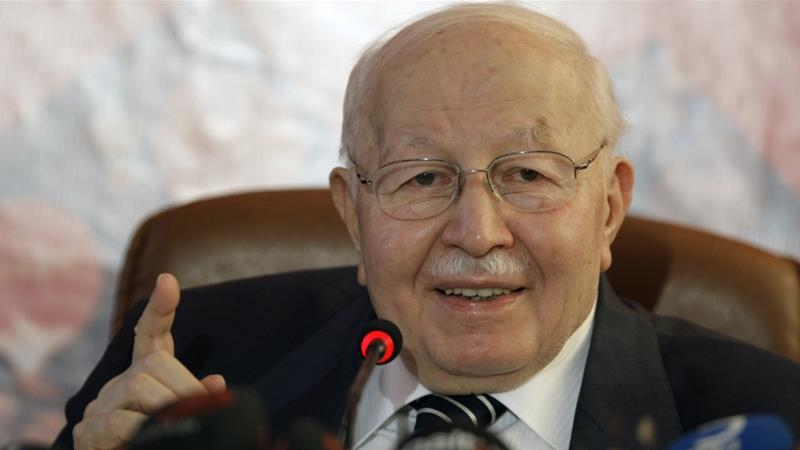 In this April 10, 2009 file photo, former Prime Minister Necmettin Erbakan speaks at a news conference in Ankara, Turkey [Photo/Burhan Ozbilici/AP]