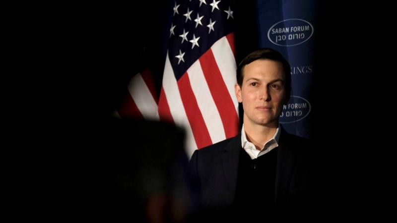 Kushner has friendships with both UAE ambassador Yousef al-Otaiba and Saudi Crown Prince Mohammed bin Salman [James Lawler/Reuters]