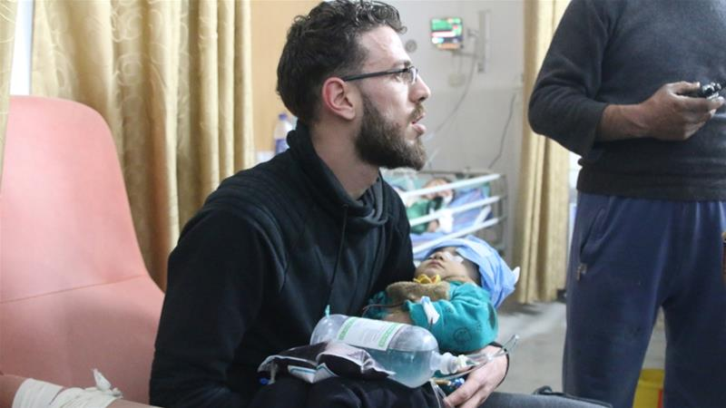 The main hospital in Idlib's Maaret al-Numan stopped working after it was hit by air raids, according to aid workers [Abdullah al-Saad]
