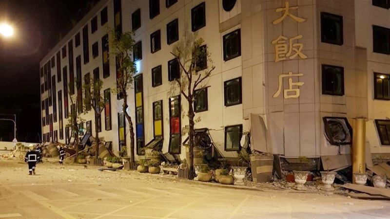 At least 6 dead, more than 50 missing after major Taiwan quake