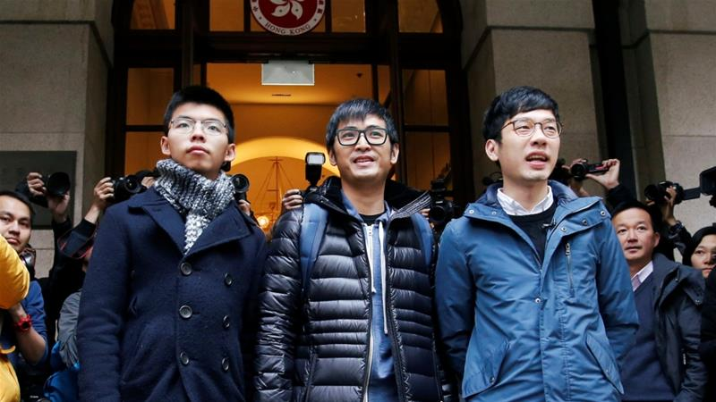 Hong Kong activists' sentences overturned