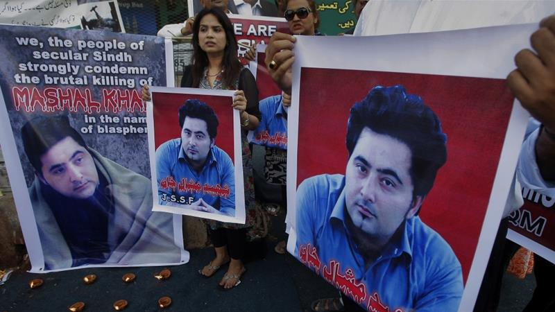 Khan's murder sparked national outrage and protests across the country [File: Fareed Khan/AP]