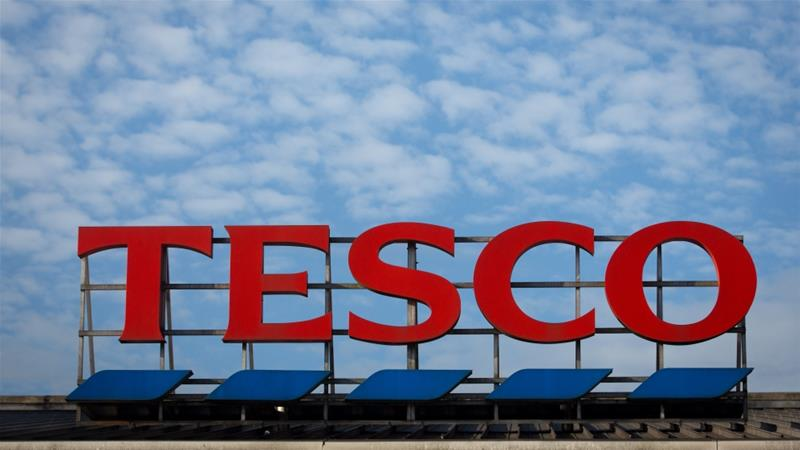 The Tesco sign is displayed outside a branch of the supermarket on November 18, 2015 in Bristol, England [Matt Cardy/Getty Images]