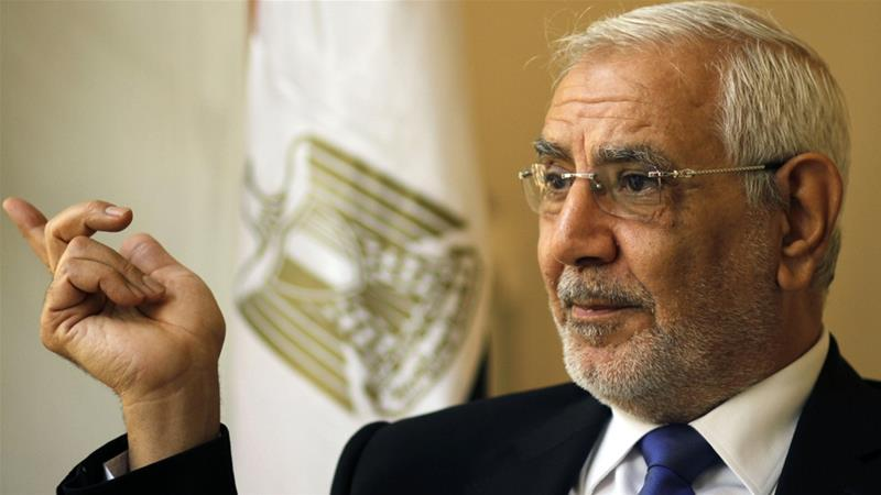 Aboul Fotouh has called on Egyptians to boycott the March elections [Amr Nabil/The Associated Press]