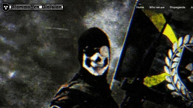 Atomwaffen Division has been linked to a spate of murders in the US [Screenshot of group's website]