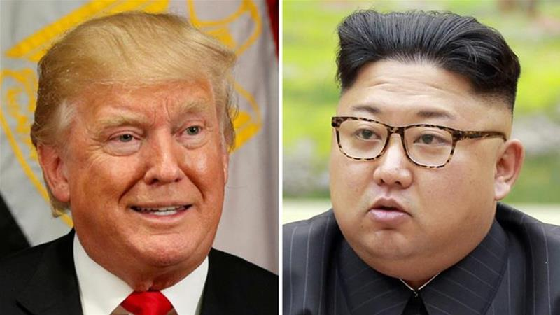 Donald Trump has previously ridiculed Kim Jong-un, referring to him as 'Little Rocket Man' [Reuters]