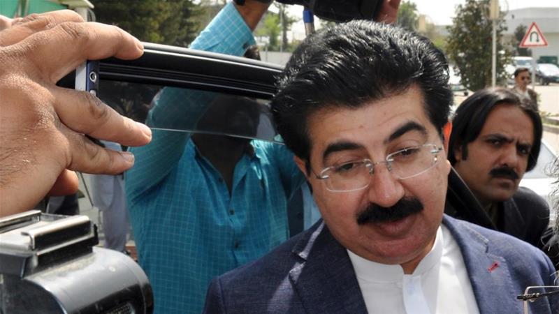 Shoe hurled at Pakistan's former prime minister Nawaz Sharif