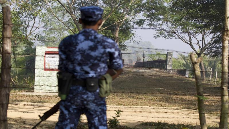 Eyewitnesses told Amnesty the Rohingya were forcibly evicted to make way for military bases [Thein Zaw/AP]