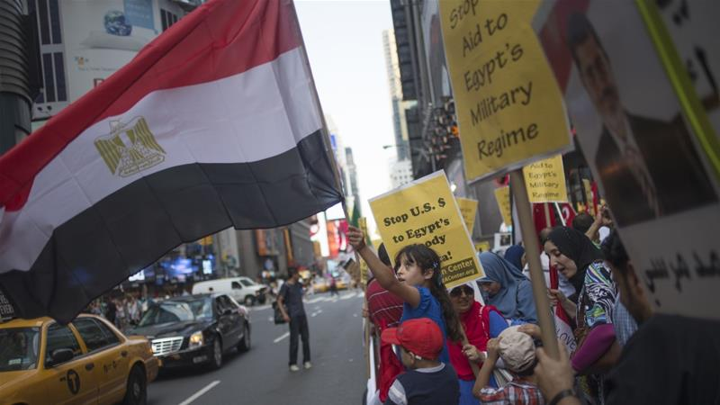 About 60 delegates from 30 different states will head to the US capital on Monday and Tuesday to push legislators to support freedom and human rights in Egypt [File: Adrees Latif/Reuters]