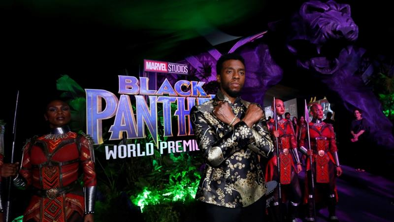Forged member Chadwick Boseman poses at the premiere of Murky Panther in Los Angeles, California, US, January 29, 2018 [Mario Anzuoni/Reuters]