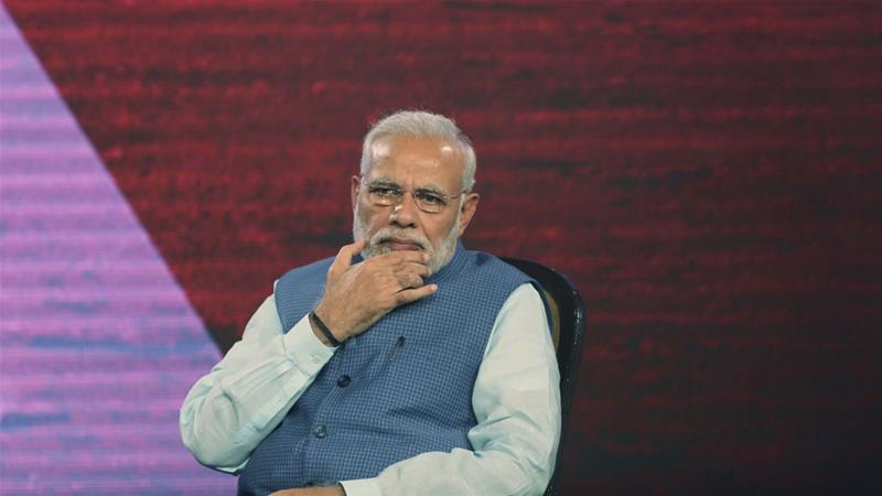 Modi has not held a single press conference in the last four years [Manish Swarup/AP]