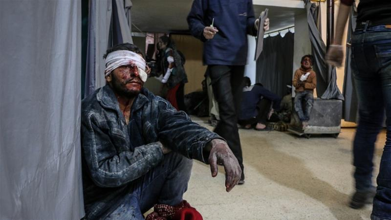 UNHCR said an estimated 12,000-16,000 people left Syria's Eastern Ghouta in the past days