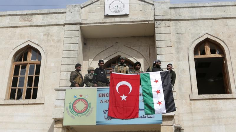 Turkish forces and Free Syrian Army capture Afrin city
