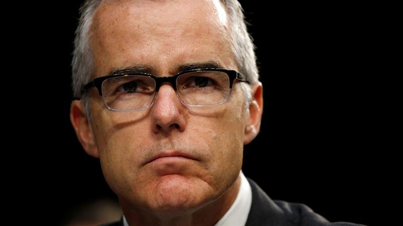 Andrew McCabe testified before a Senate Intelligence Committee hearing on the Foreign Intelligence Surveillance Act in June [Kevin Lamarque/Reuters]