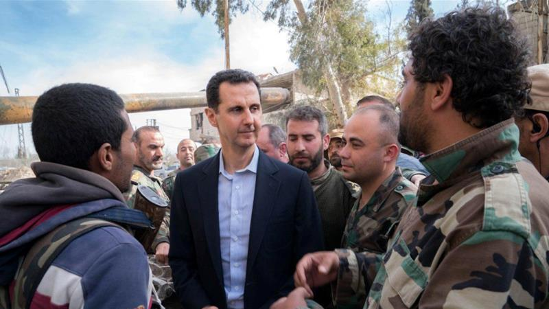 Assad has received military and diplomatic support of Iran and Russia [Reuters]