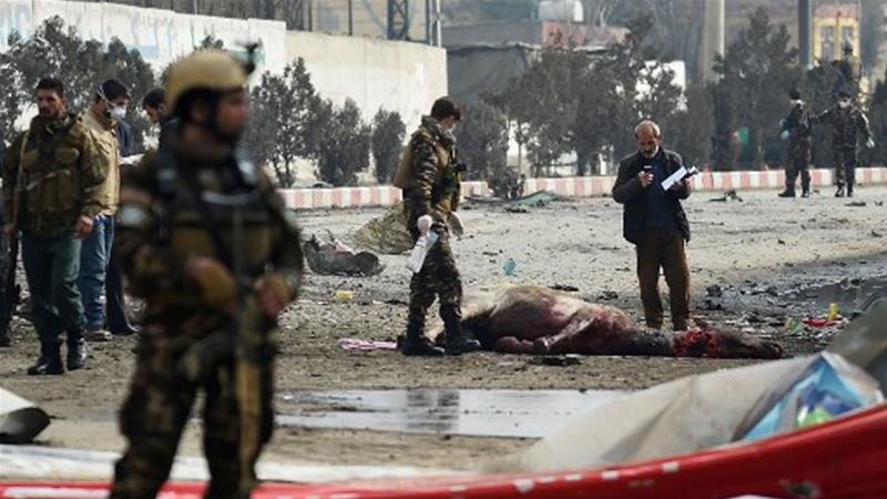 The explosion took place near a vehicle belonging to foreign workers in eastern Kabul [Wakil Kohsar/AFP]