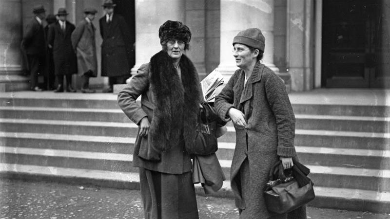 Constance Markievicz, pictured left, refused her seat in parliament because she refused to swear allegiance to the crown [Independent News And Media/Getty Images/Getty Images]