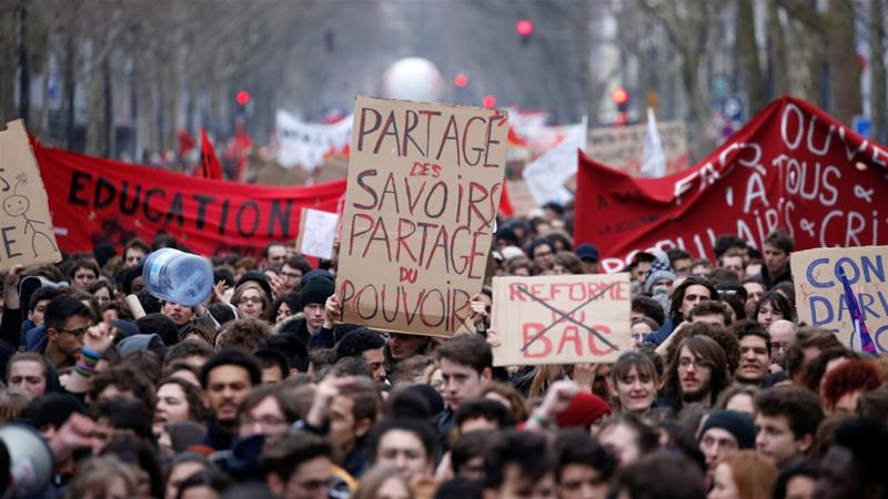 Workers are planning to strike two days out of every five throughout the months of April to June [Stephane Mahe/Reuters]