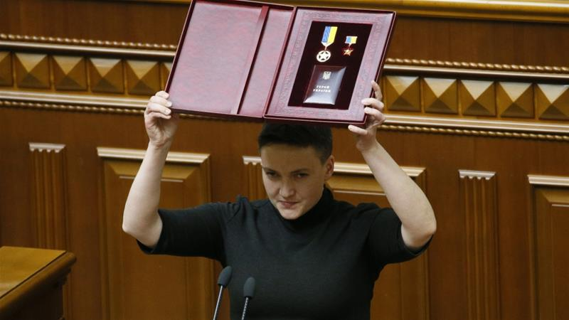 Savchenko became famous in 2014 after being captured by Russian-backed rebels in eastern Ukraine [Valentyn Ogirenko/Reuters]