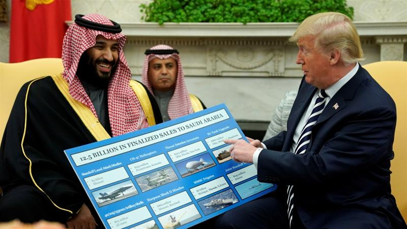 'Maybe he did and maybe he didn't': Trump on Mohammed bin Salman having knowledge of Khashoggi's killing [File: Jonathan Ernst/Reuters]
